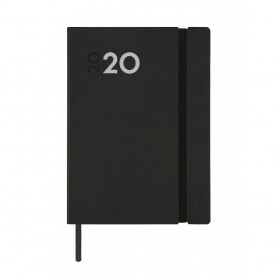AGENDA ANUAL DYNAMIC MARA COLOR NEGRO SEMANA VISTA VERTICAL 124X174X12 MM FINOCAM 2020
