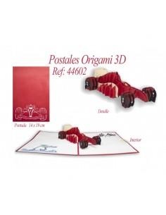 POSTAL 3D ORIGAMI COCHE...