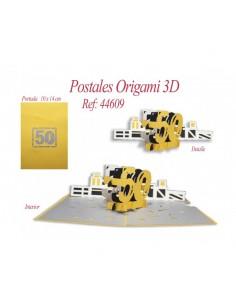 POSTAL 3D ORIGAMI 50 AÑOS