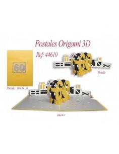 POSTAL 3D ORIGAMI 60 AÑOS