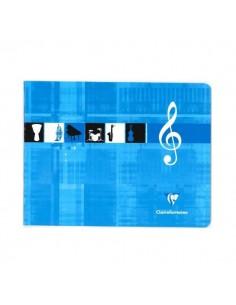 BLOC MUSICA CLAIREFONTAINE CUARTO APAISADO 6 PENTAGRAMAS