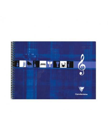 BLOC MUSICA CLAIREFONTAINE A4 APAISADO