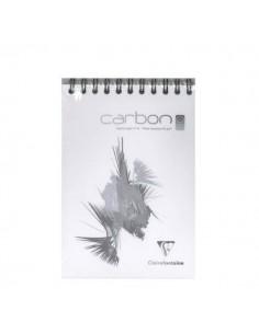 BLOC DE DIBUJO DE CARBON BLANCO ESPIRAL