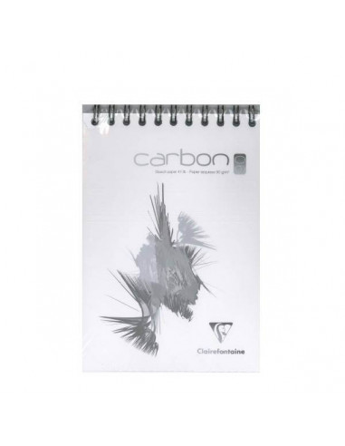 BLOC DE DIBUJO DE CARBON BLANCO ESPIRAL A5 70 HOJAS 90 GR 14,8 X 21