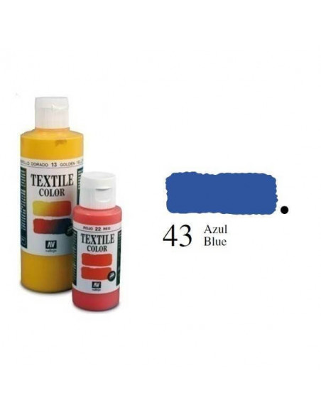 PINTURA DE COLOR AZUL MODELO TEXTIL COLOR BOTE DE 60 ML DE LA MARCA VALLEJO