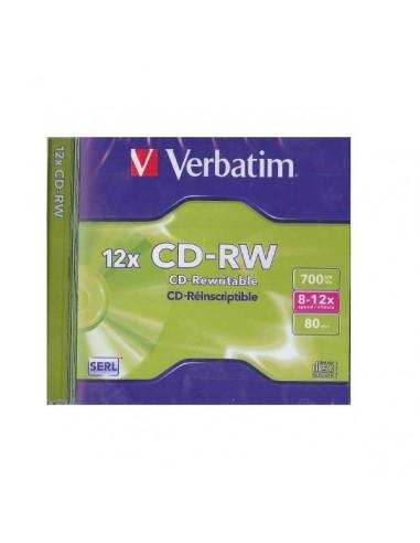 CD VERBATIM 700MB 8-12X 80 MINUTOS RW(REGABABLE) CON LPI