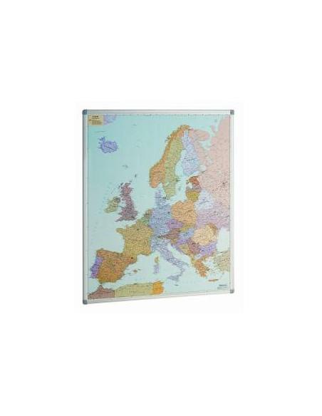 MAPA DE EUROPA CON MARCO DE ALUMINIO 93 X 119 CM.