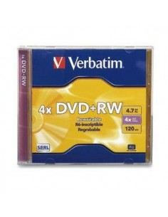 DVD + RW VERBATIM 4X 4,7 GB 120 M. REGRABABLE