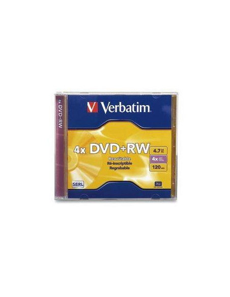 DVD RW VERBATIM 4X 4.7 GB 120 M. REGRABABLE