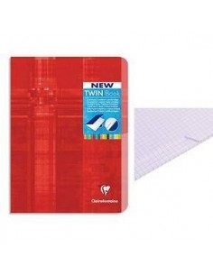 CUADERNO CON INDEX CENTRAL TWIN BOOK GRAPADO CUADRICULADO