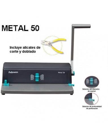 ENCUADERNADORA ESPIRAL METAL 50 A4 FELLOWES